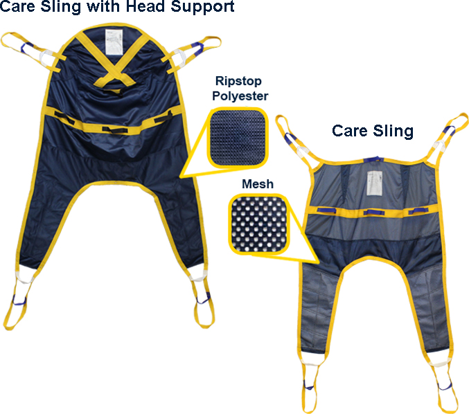 care sling with head support