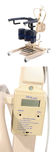 sit to stand lit with scale, patient lifts, medcare products