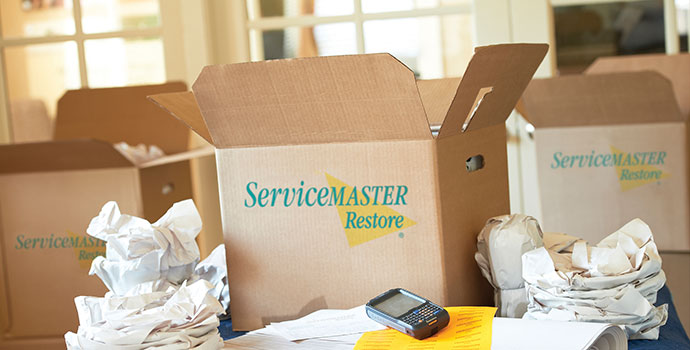 ServiceMaster emergency item storage and packing